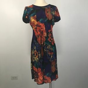 Vintage Carole Little Multicolor Floral Dress 4